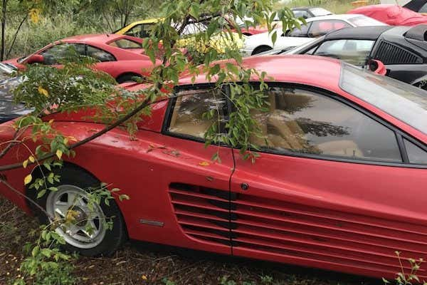 The Mysterious Story Behind Field With More Than Dozen Abandoned Ferraris Other Exotics