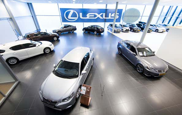 A general view of a Lexus car showroom