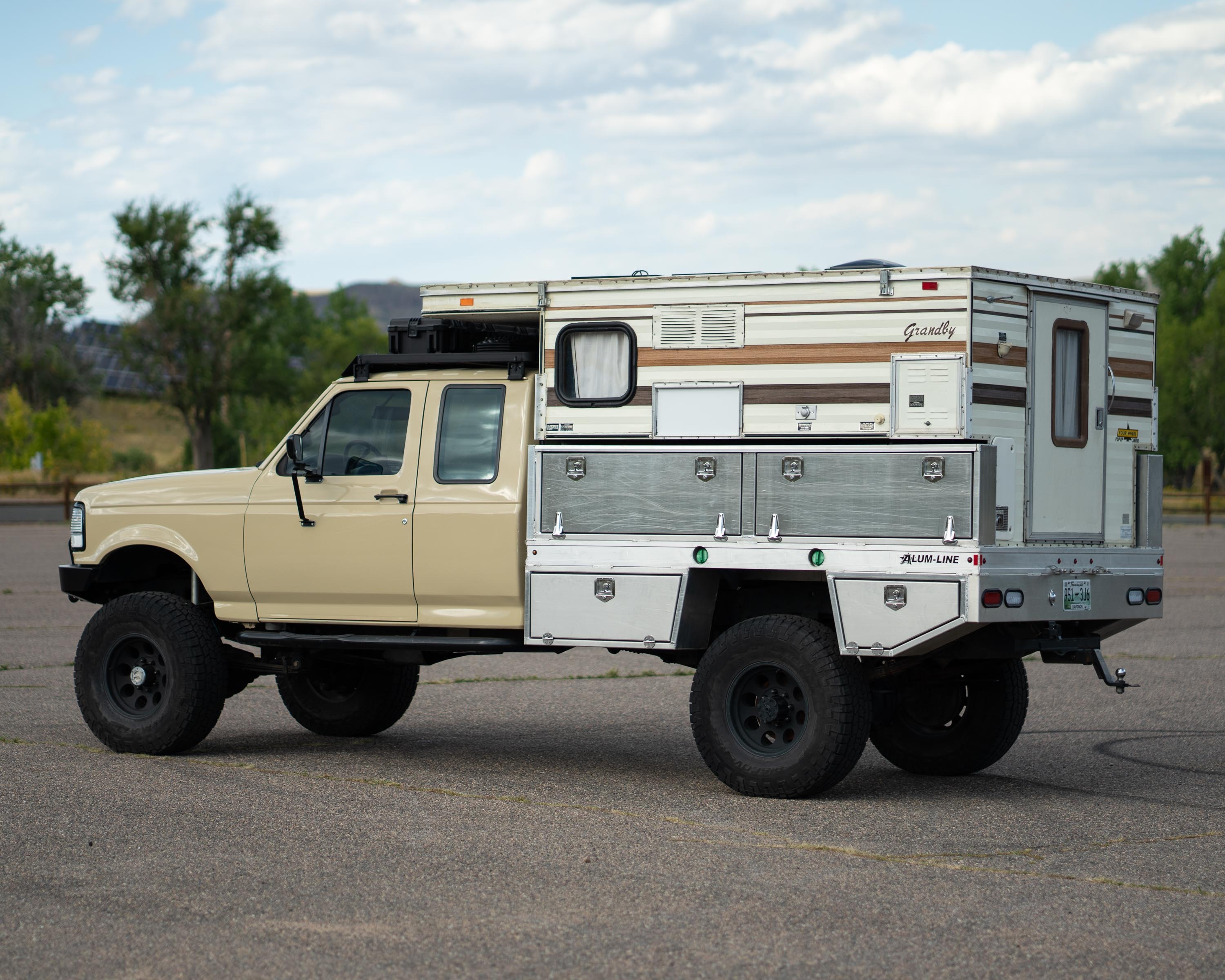 This 45 000 1995 Ford F 250 Camper Truck Is A Backwoods Adventurer S Dream