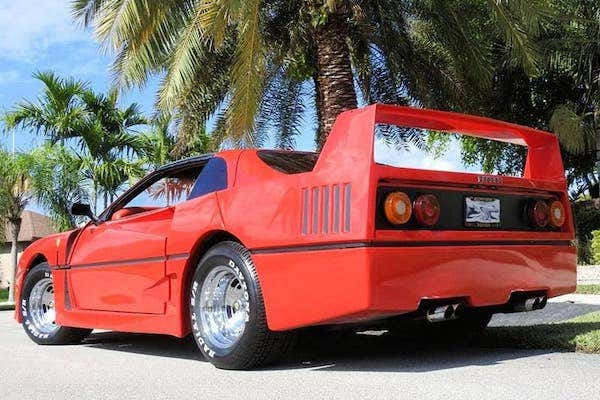 1982 Pontiac Firebird Trans Am With Now Illegal Ferrari F40 Body Kit Listed For 21 000
