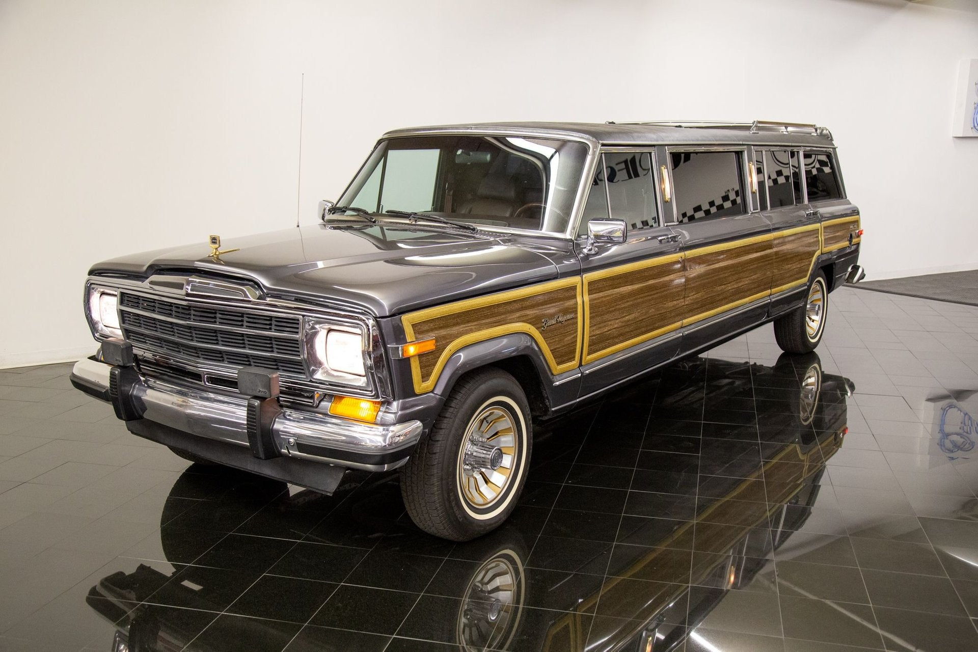 for sale restored 1988 grand wagoneer limo offers 22 feet of wood grain glory for sale restored 1988 grand wagoneer