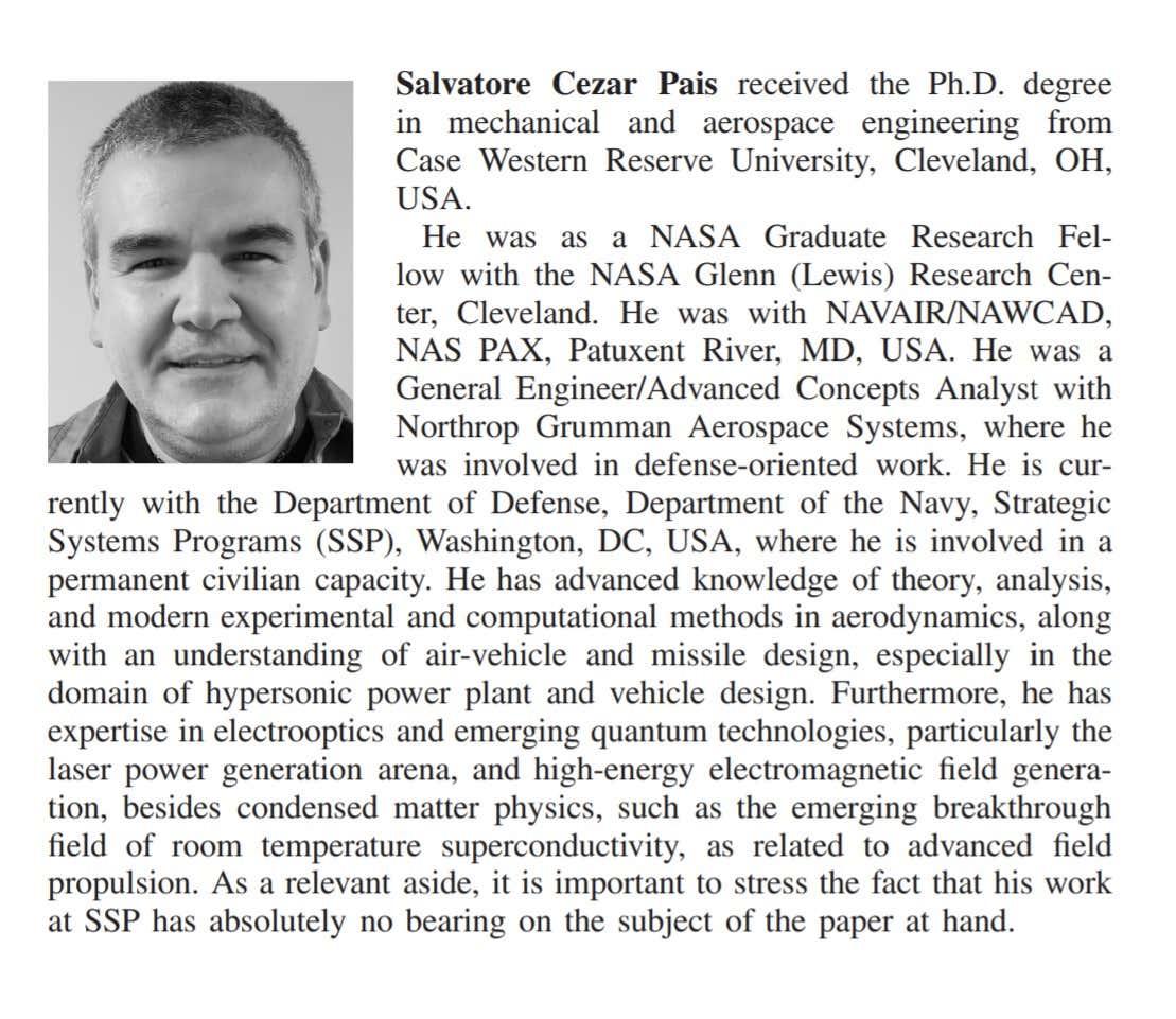 The Secretive Inventor Of The Navy's Bizarre 'UFO Patents' Finally Talks Message-editor%2F1578679824844-paisheadshot