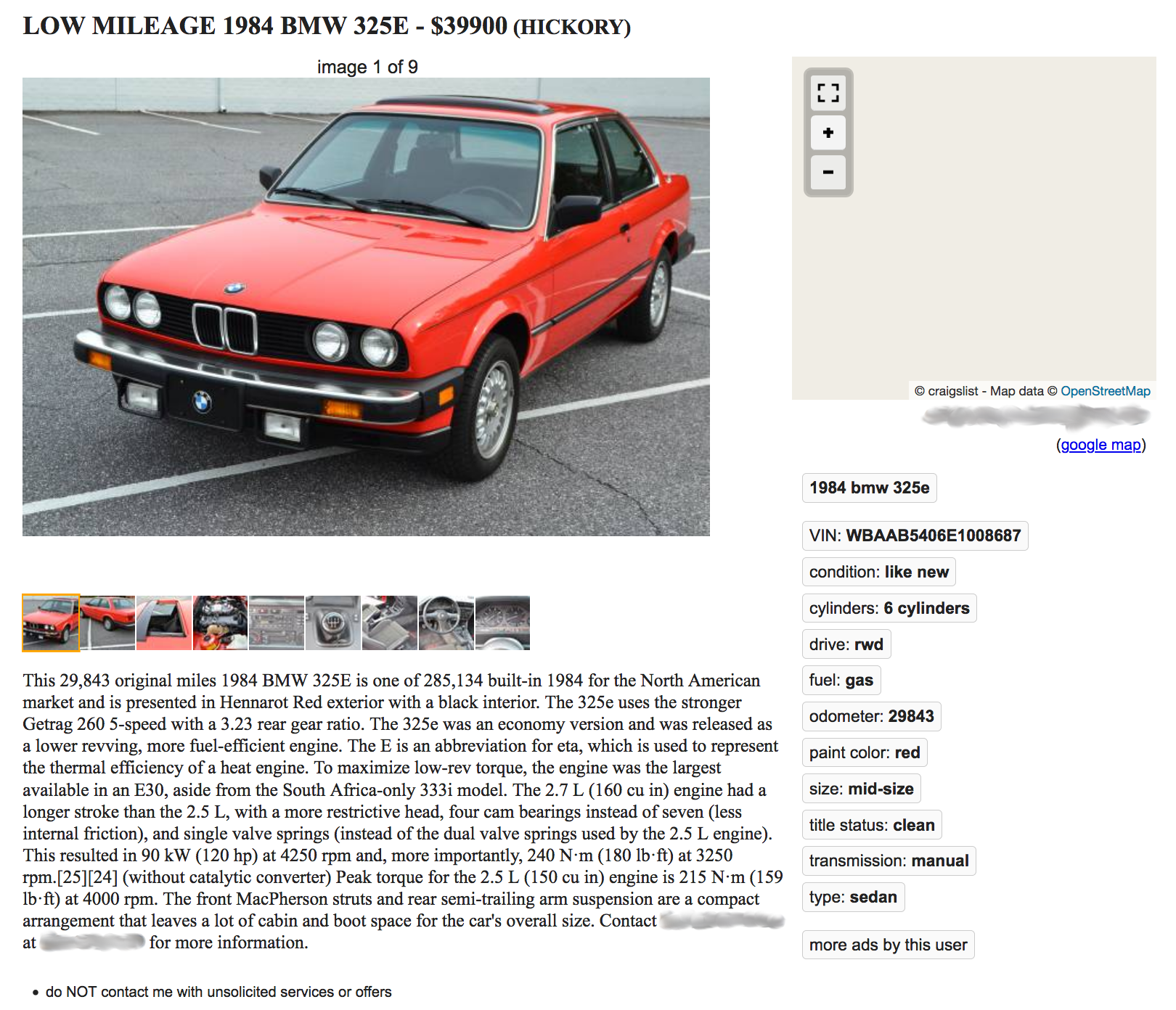 Why One Of The Least Loved Bmw E30s Is Listed At 39 900 The Drive