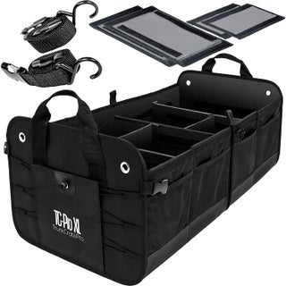 Trunkcratepro Premium Multi Compartments Collapsible Portable Trunk Organizer