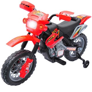 Qaba Kids Electric Battery-Powered Ride-On Motorcycle Dirt Bike Toy