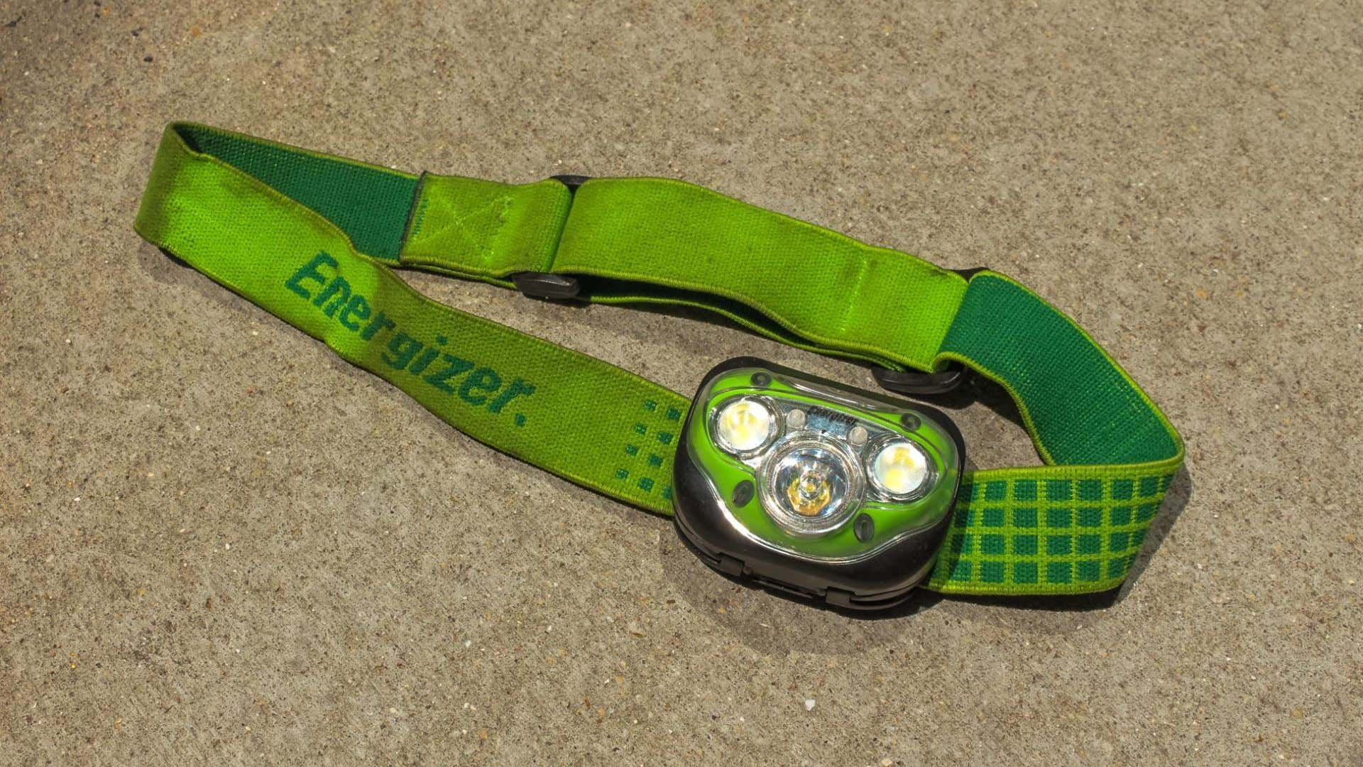 A headlamp provides hands-free light anywhere you go.