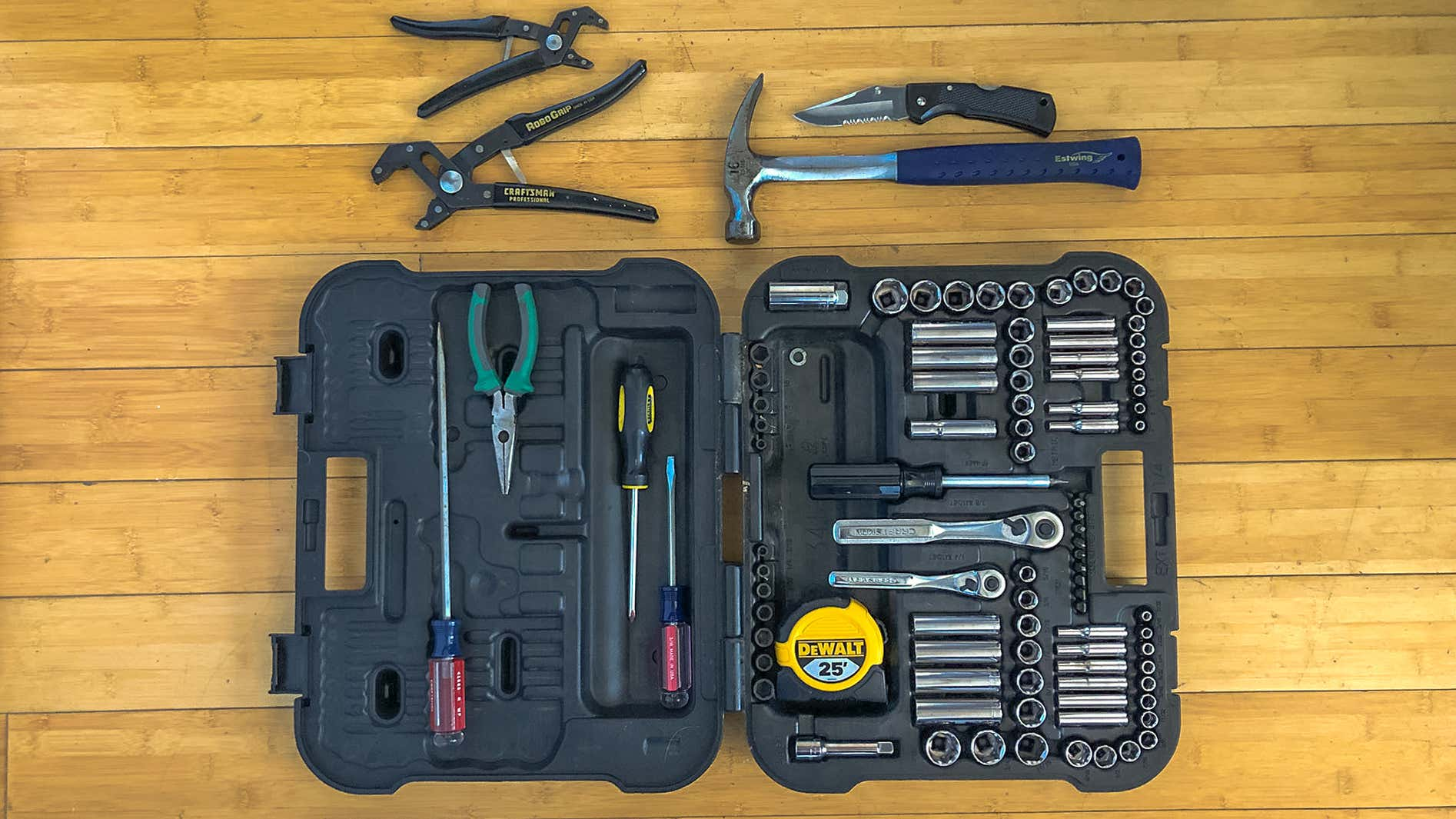 A tool set could come in handy on the road or at the campsite.
