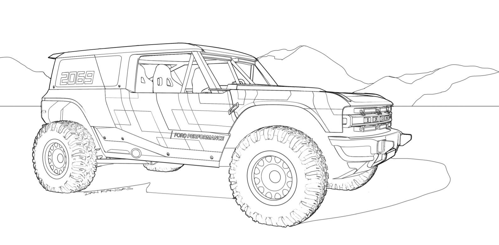 Keep The Kids Busy And Yourself Too With These 2021 Ford Bronco And F 150 Coloring Pages