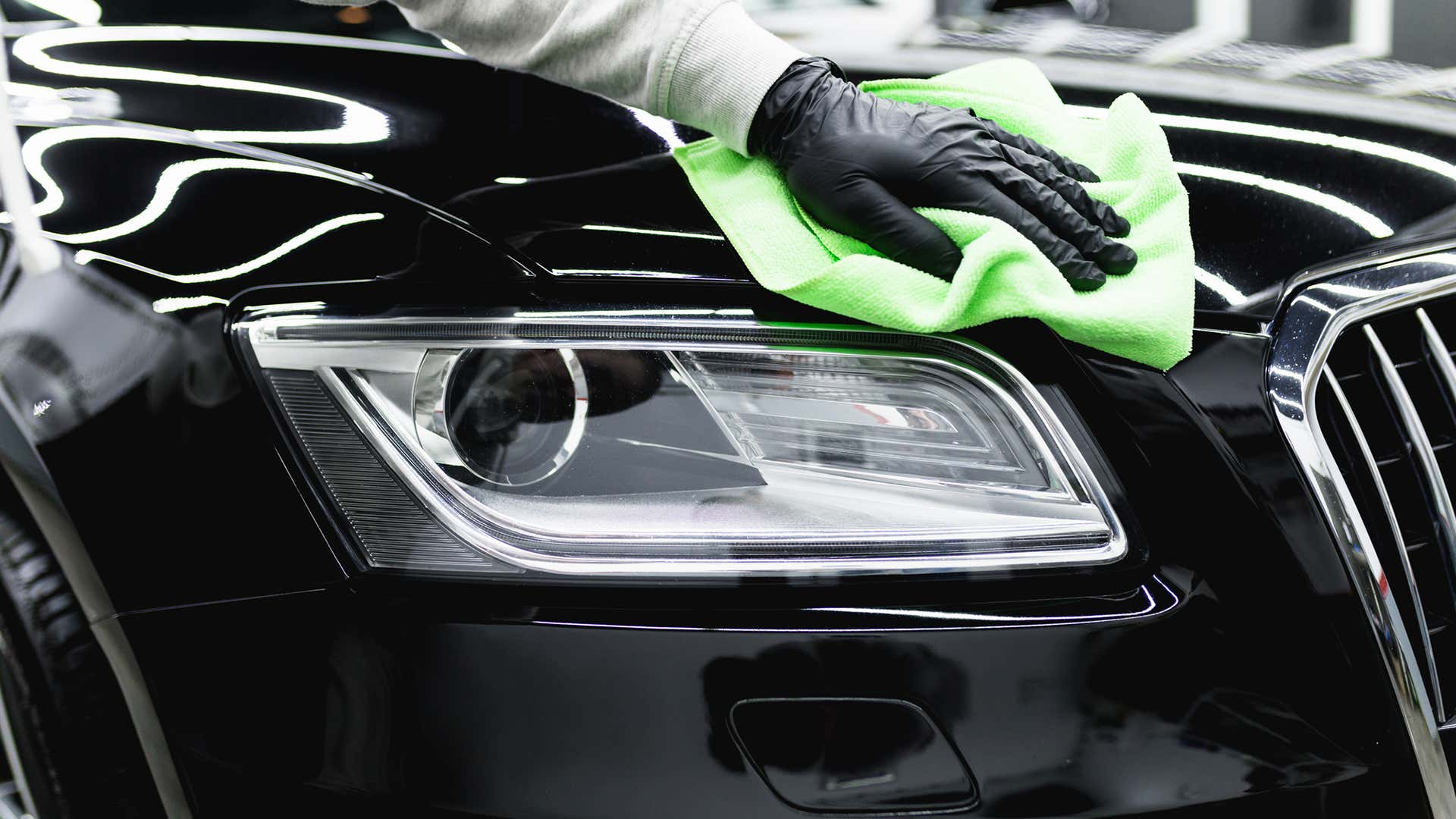 Always use microfiber towels when detailing a car.