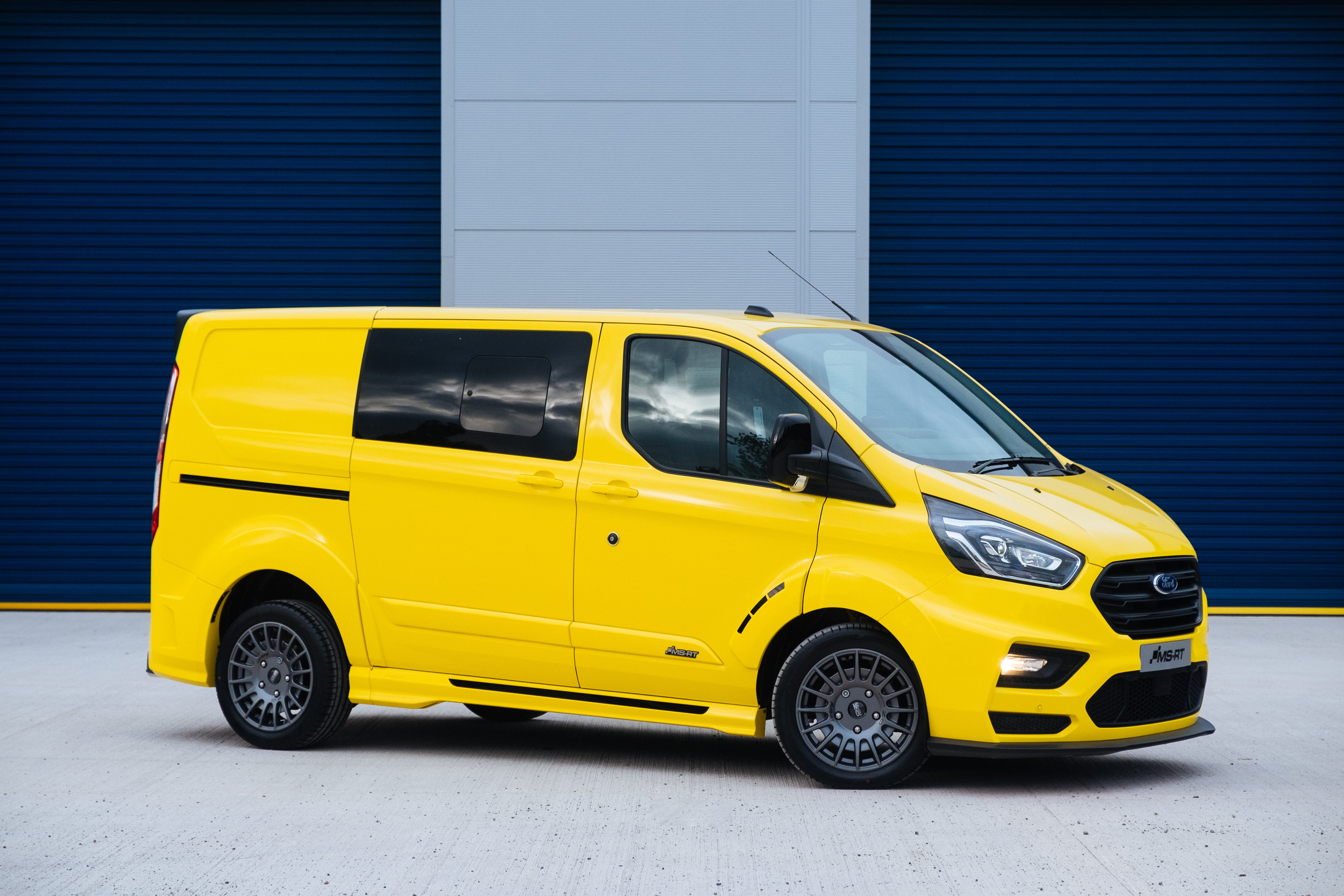 The Ford Transit Van Gets Hotter With New Rally Inspired Body Kit Custom Colors