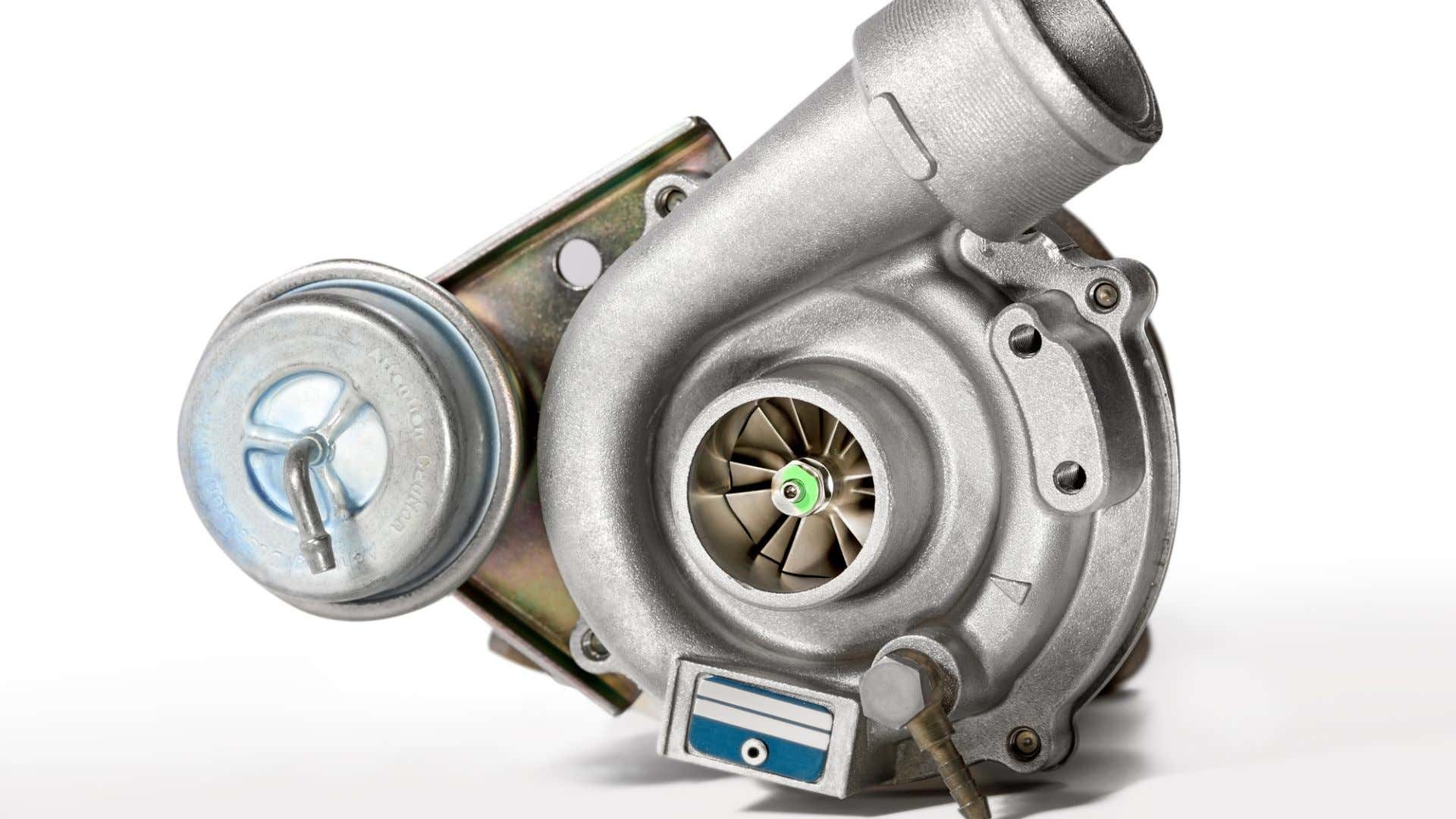 A turbocharger with wastegate.