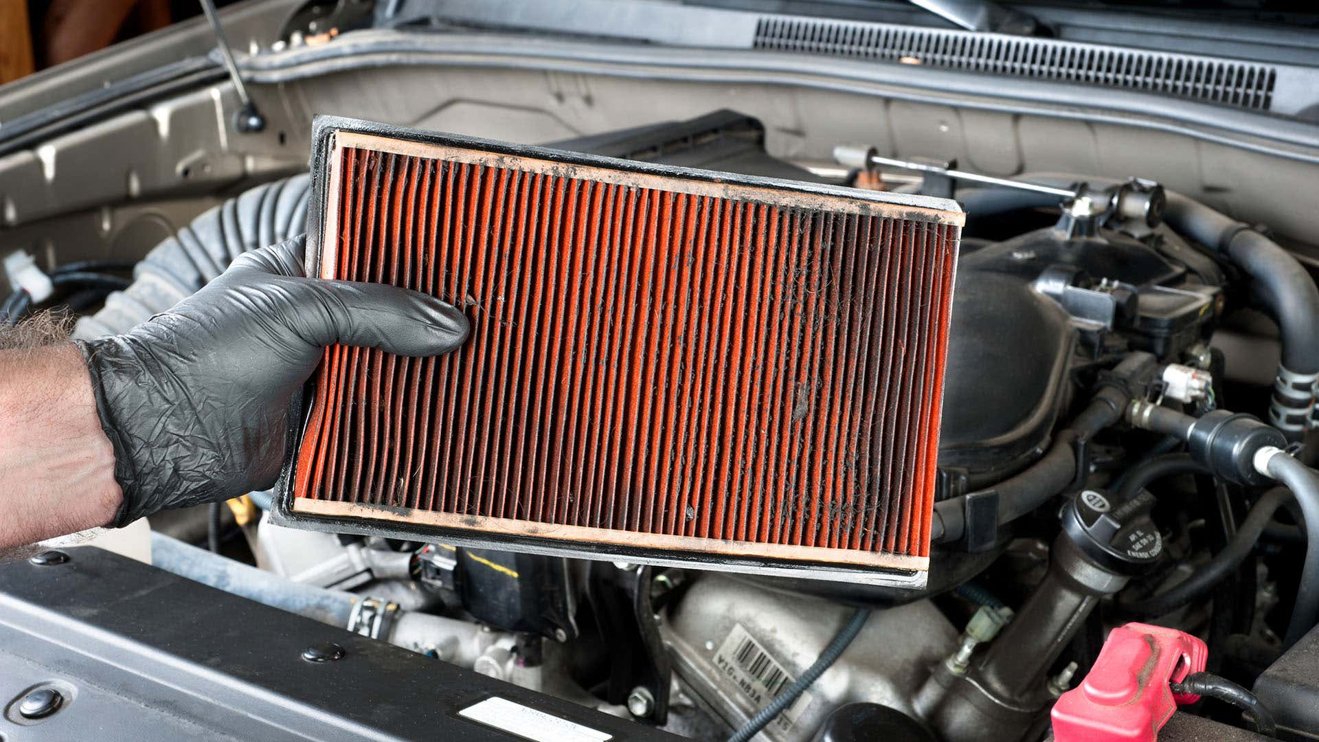 Always inspect the air filter inside and outside of your vehicle.