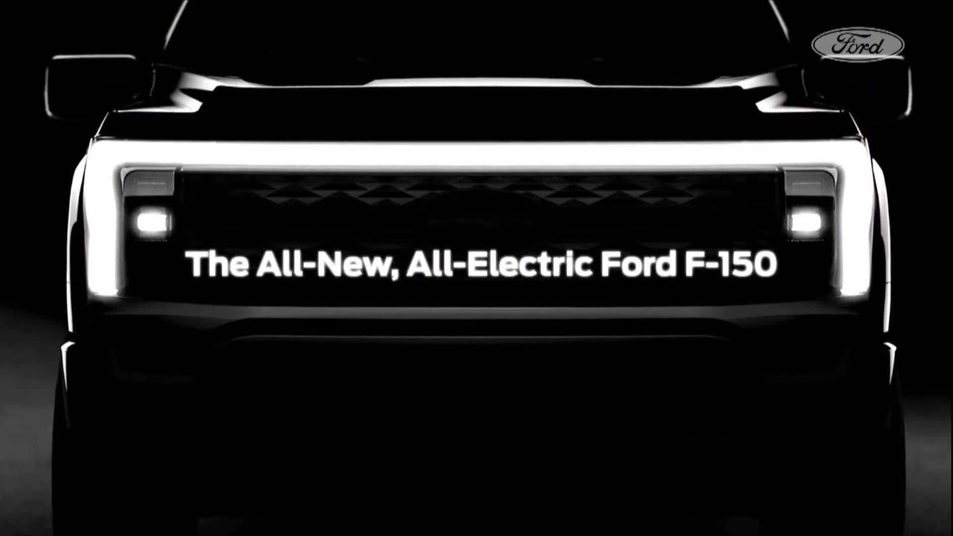 Ford's teaser of the upcoming pure EV F-150.