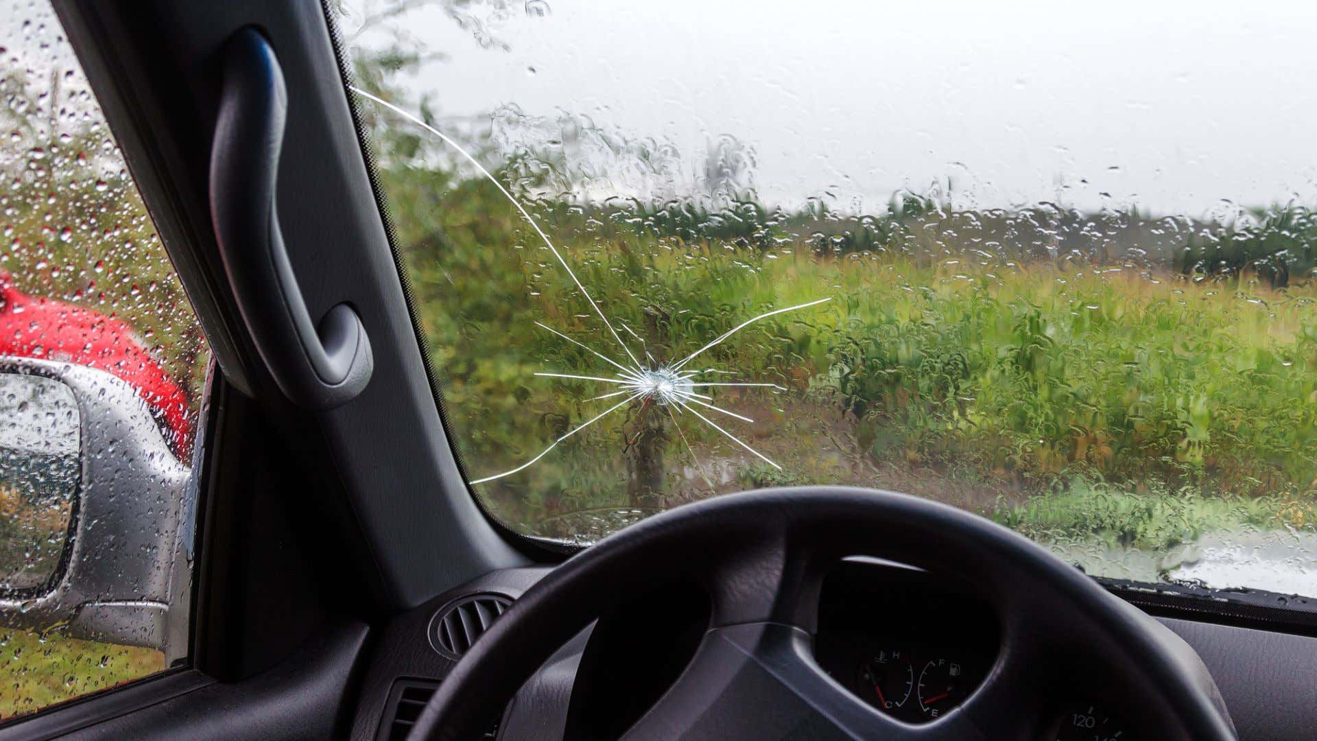 Dang spider windshield cracks.