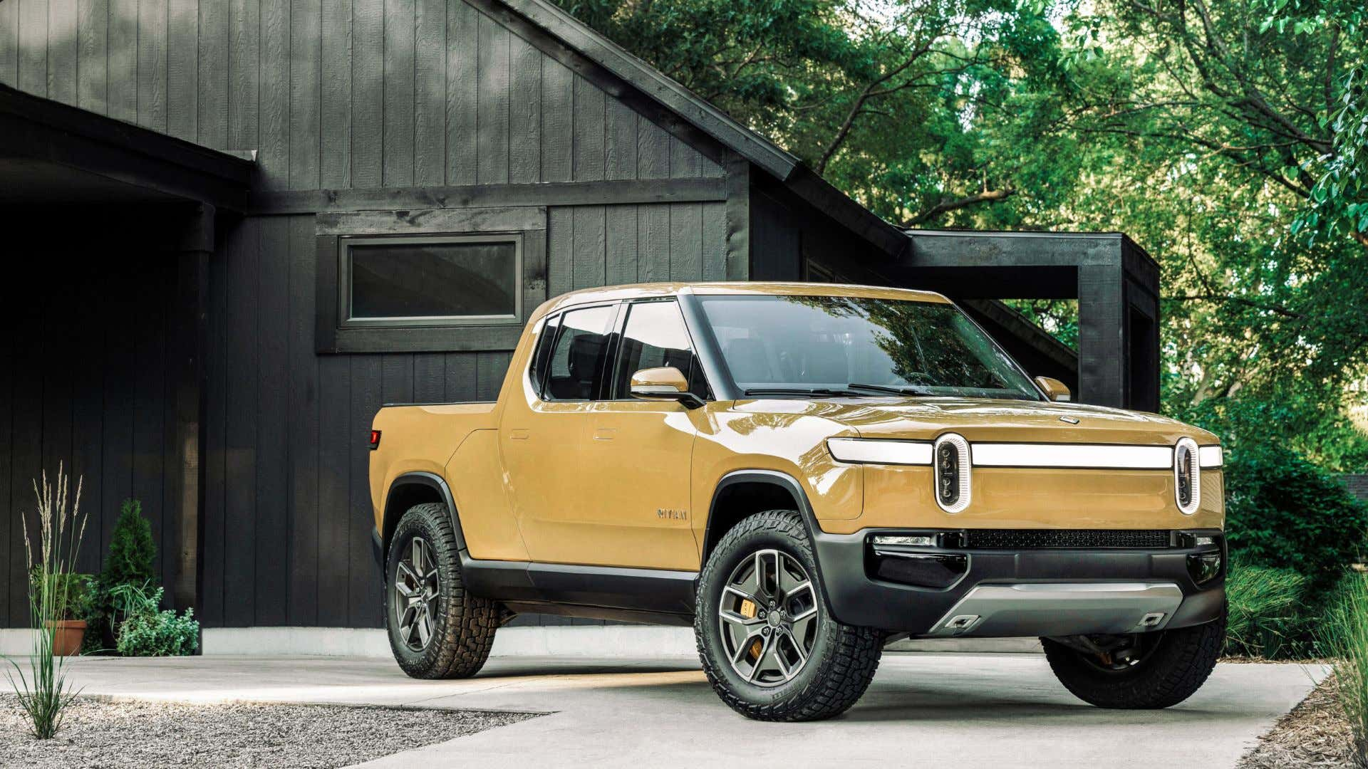 Rivian's all-electric R1T has a ton of torque and horsepower.