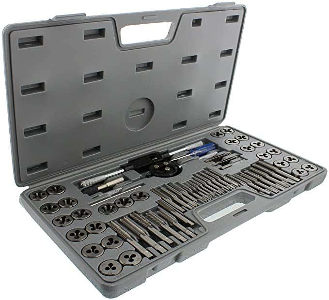 ABN Metric and SAE Standard Tap and Die 60-Piece Rethread Set