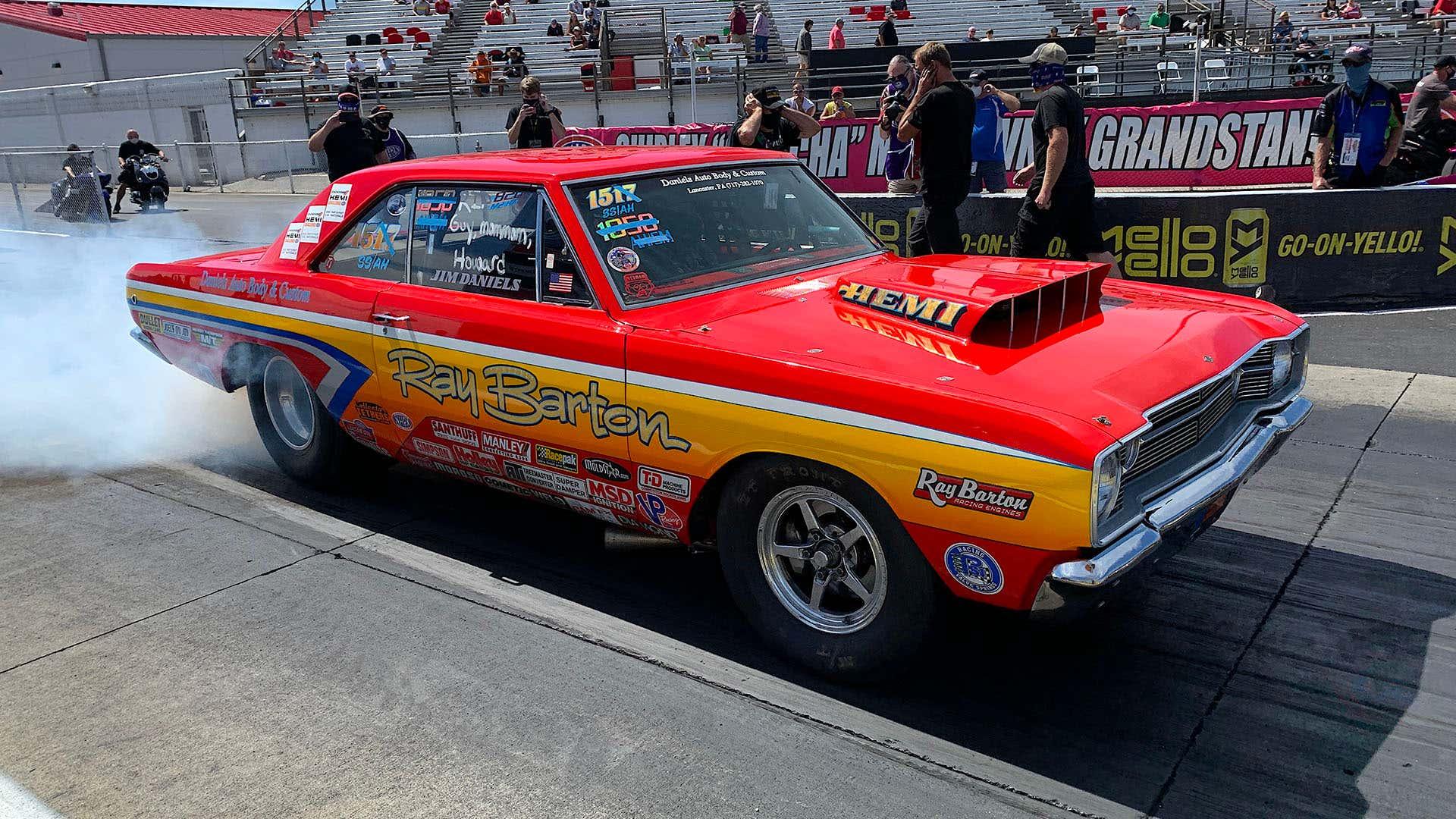 Ray Barton's Hemi drag racer.