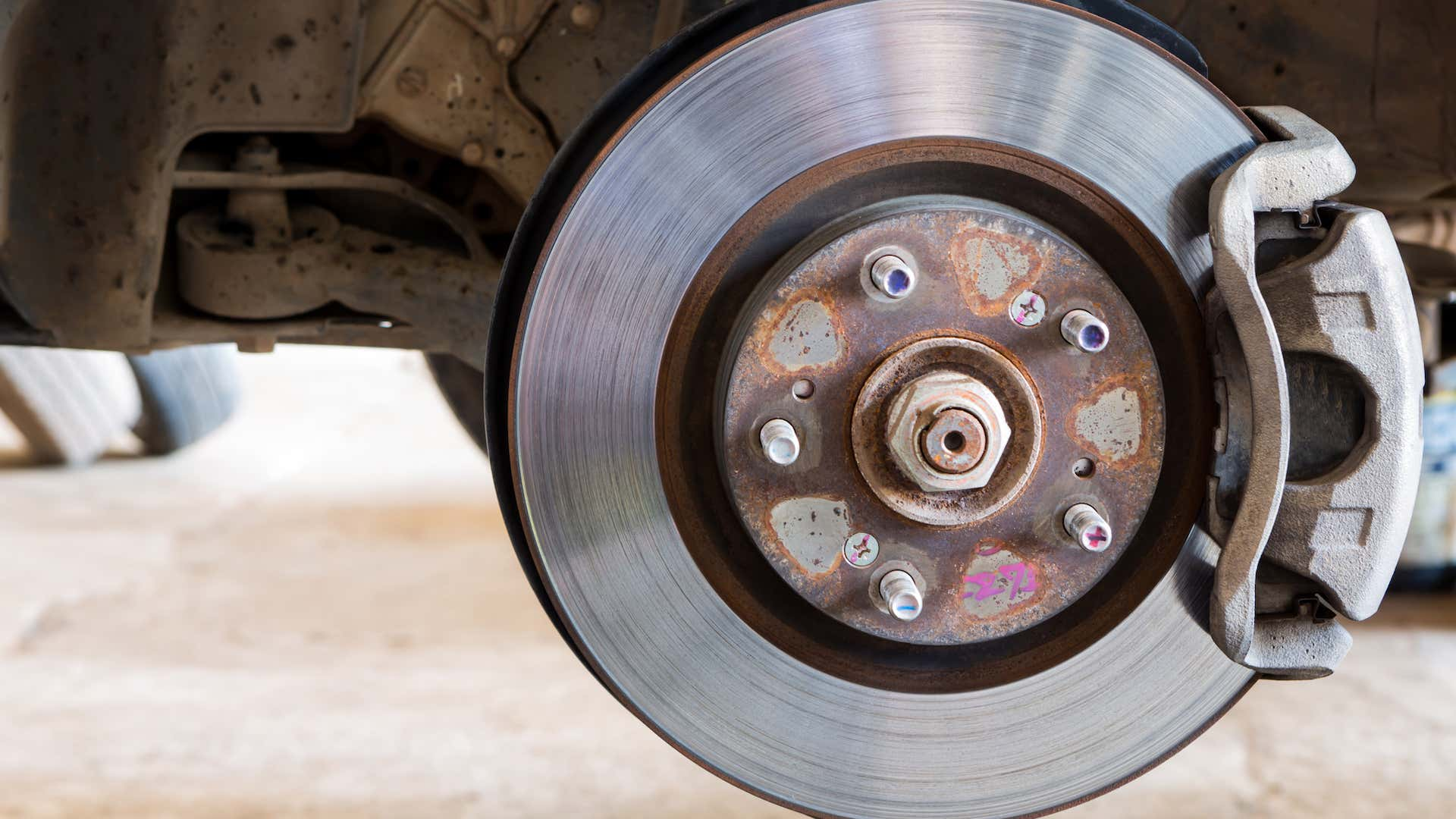 Brakes can cause problems if they're warped or damaged.