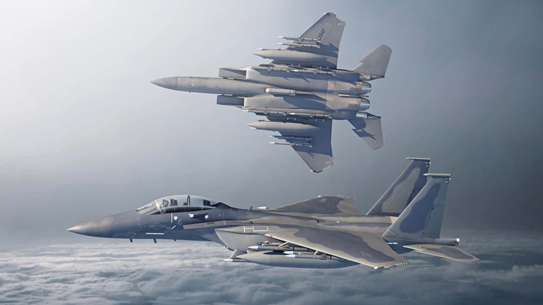 Boeing concept art showing the F-15EX in U.S. Air Force service.
