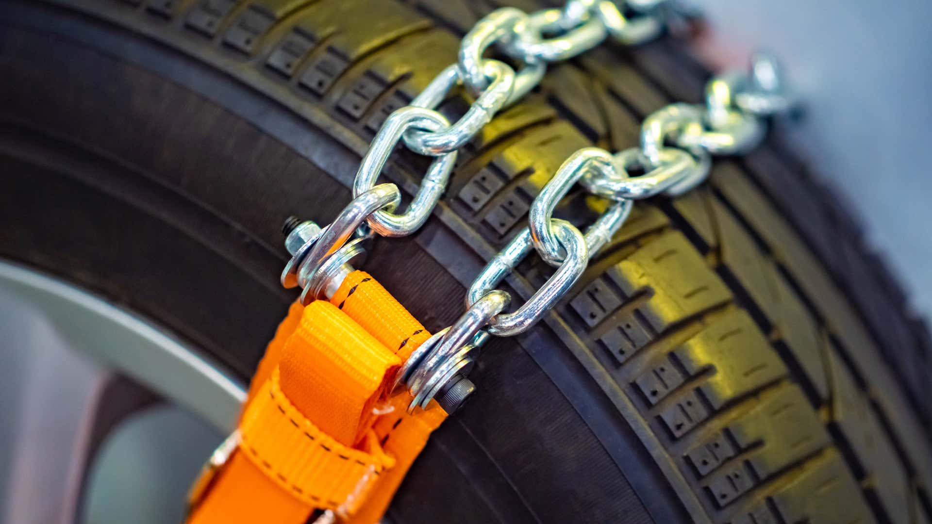 Tire chains come in many sizes and types.