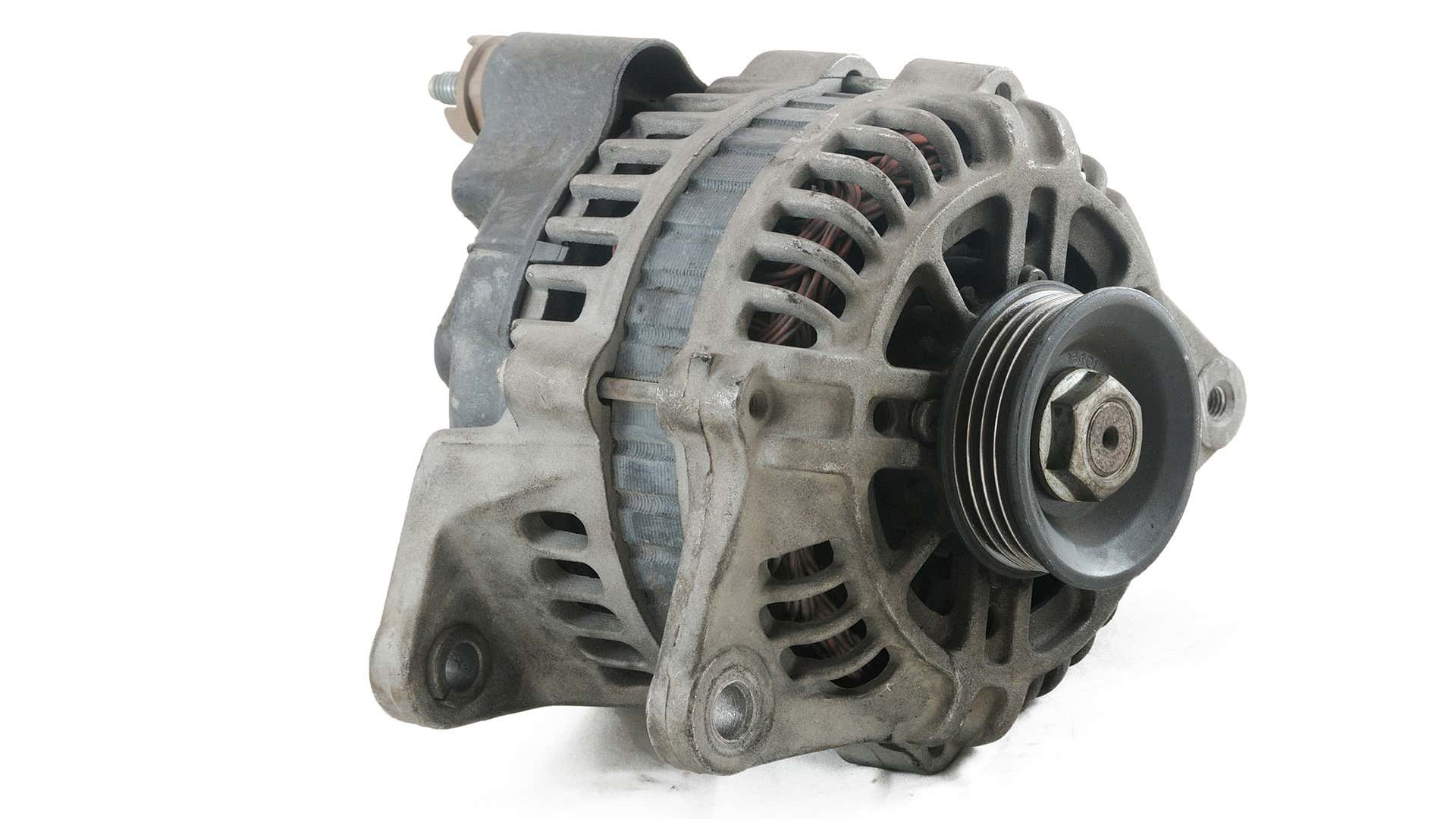 An alternator on a white background.
