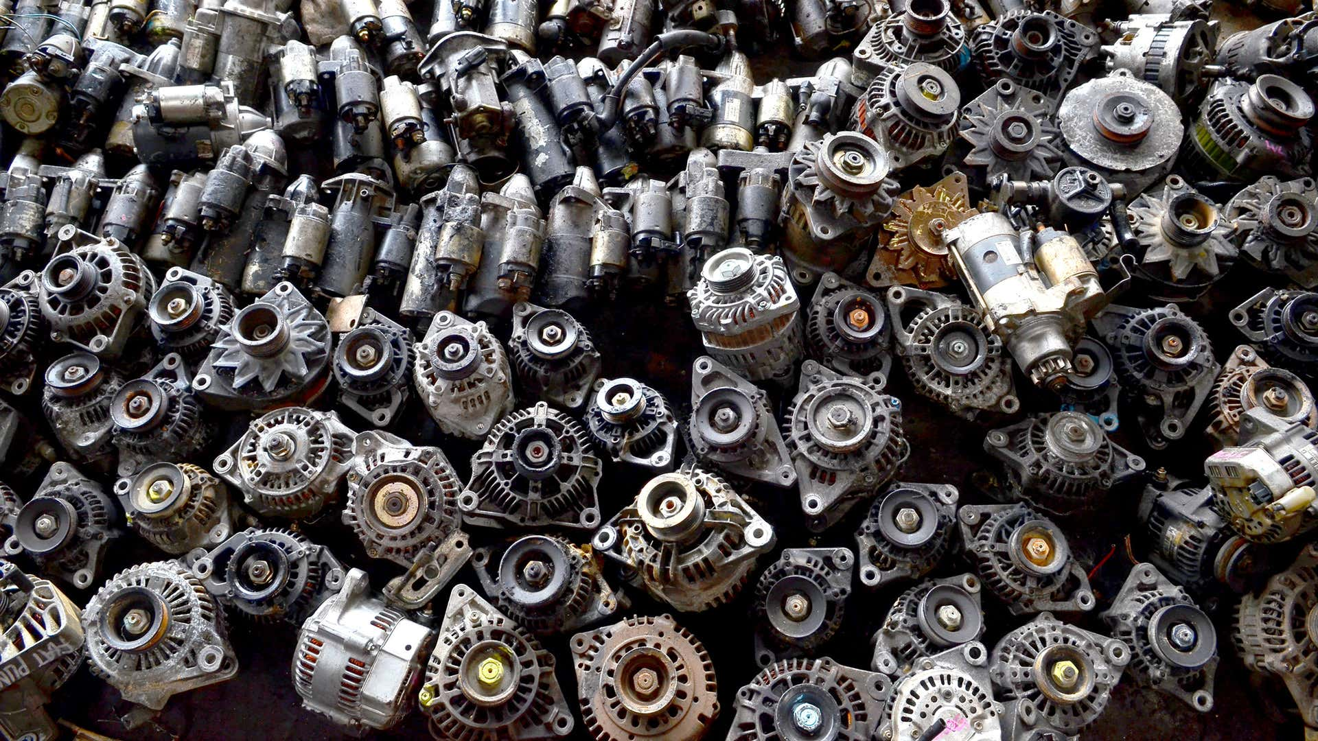 A mess of old alternator scrap.