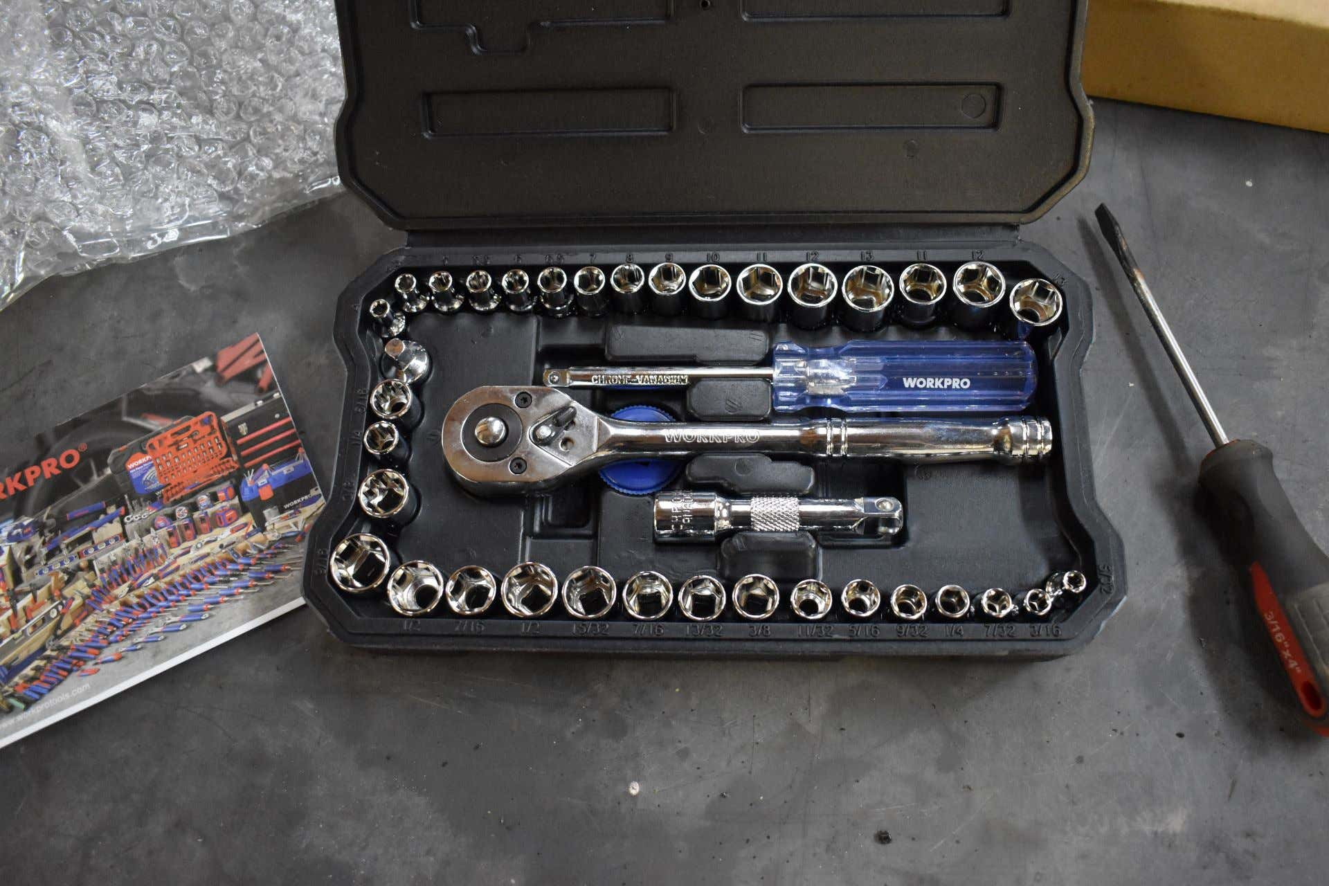 Unboxing the workpro tool set