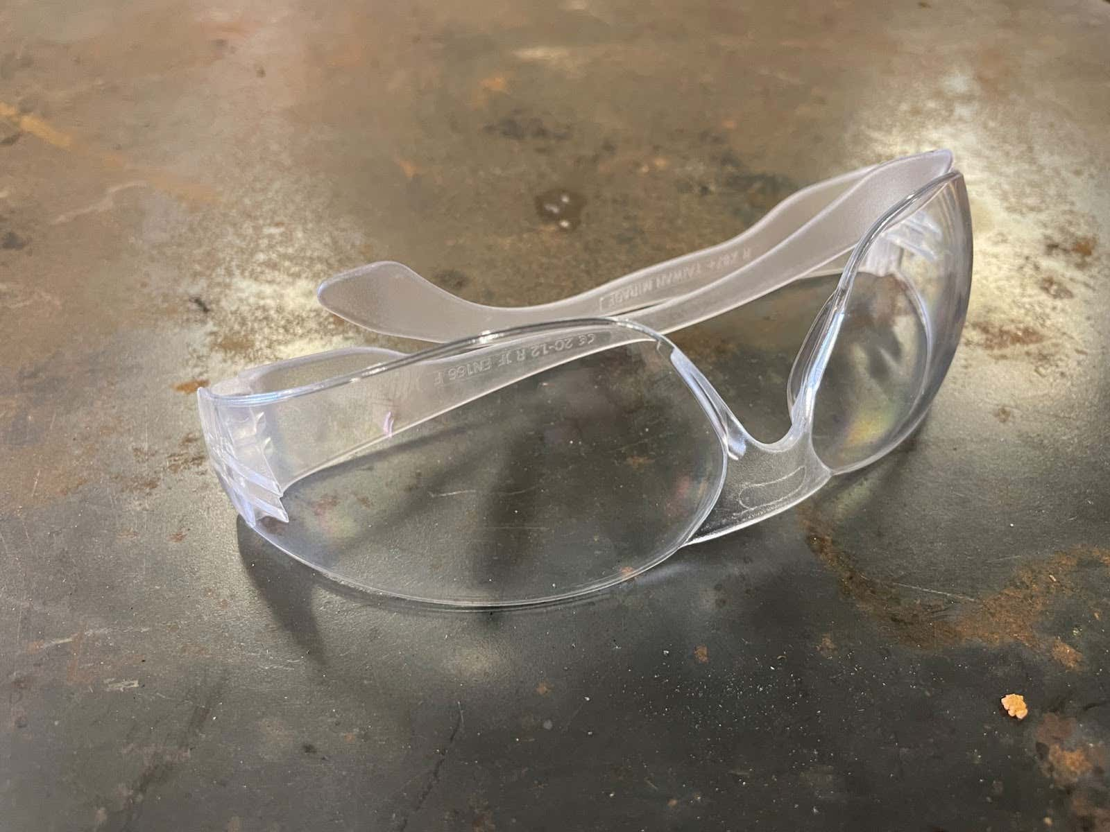 Radians Clear Safety Glasses, Scratch Resistant, Full Wrap