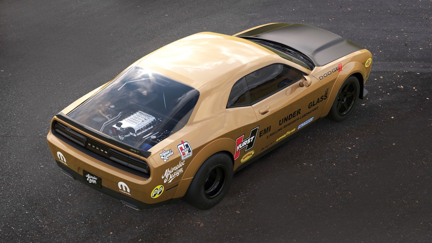 Behold A Demon Powered Dodge Challenger Hellcat Rendered As Hemi Under Glass Plymouth Barracuda