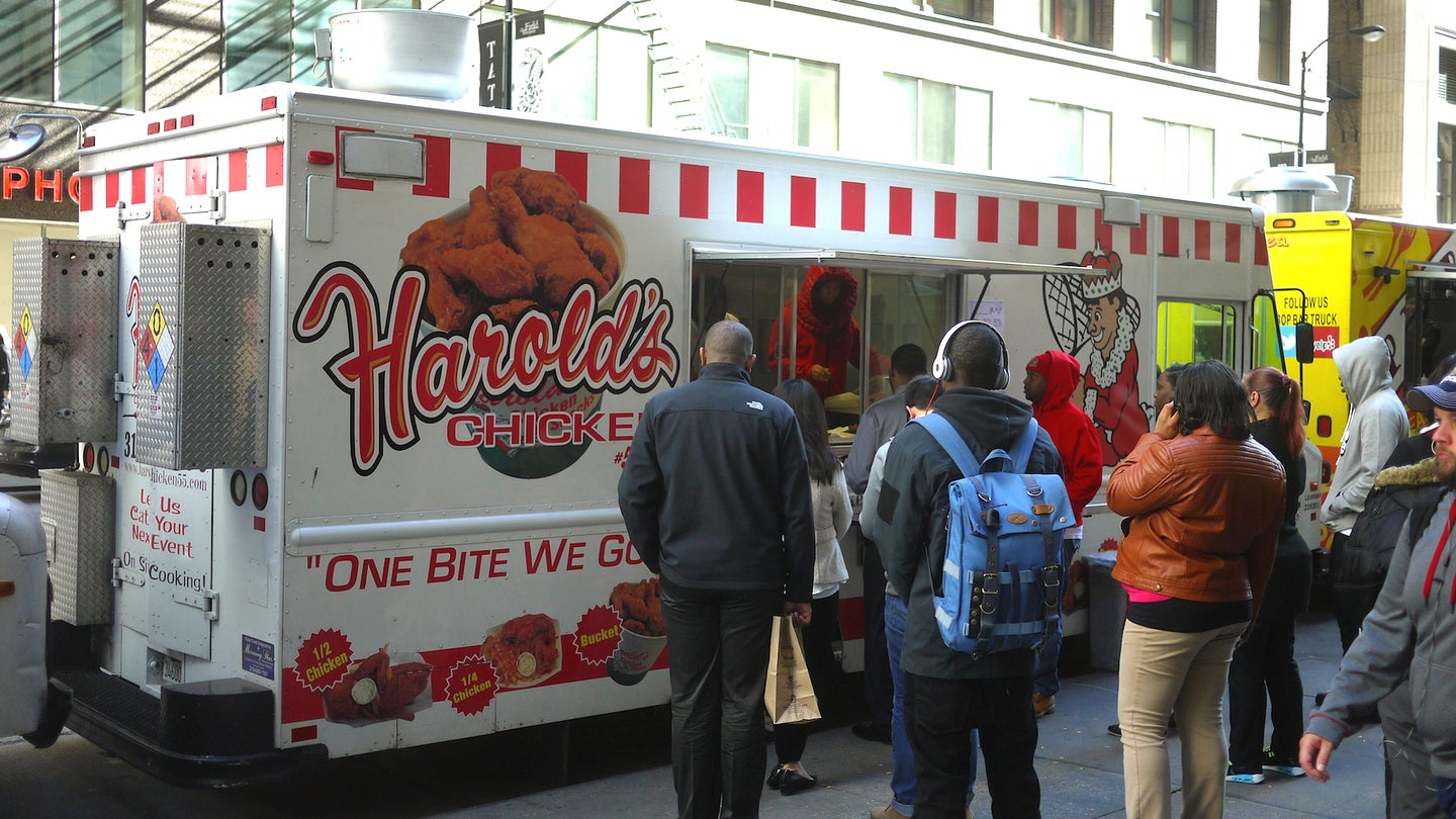 Harold's Chicken Food Truck On South Clark