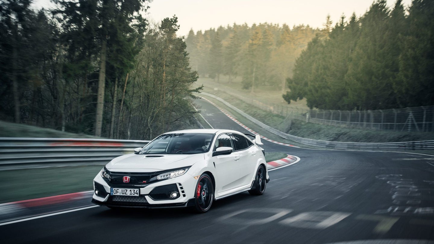2017 Honda Civic Type R sets new lap record at the Nürburgring