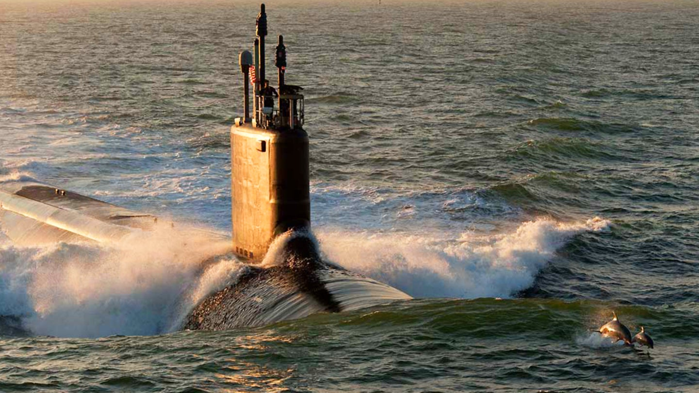 130607-O-ZZ999-010WASHINGTON (June 7, 2013) In an undated file photo provided by Huntington Ingalls Industries, the Virginia-class attack submarine Pre-Commissioning Unit (PCU) Minnesota (SSN 783) is shown during sea trials. The last of the Block II Virginia-class submarines was delivered to the Navy June 6, 2013, nearly 11 months ahead of schedule. (U.S. Navy photo courtesy of Huntington Ingalls Industries/Released)