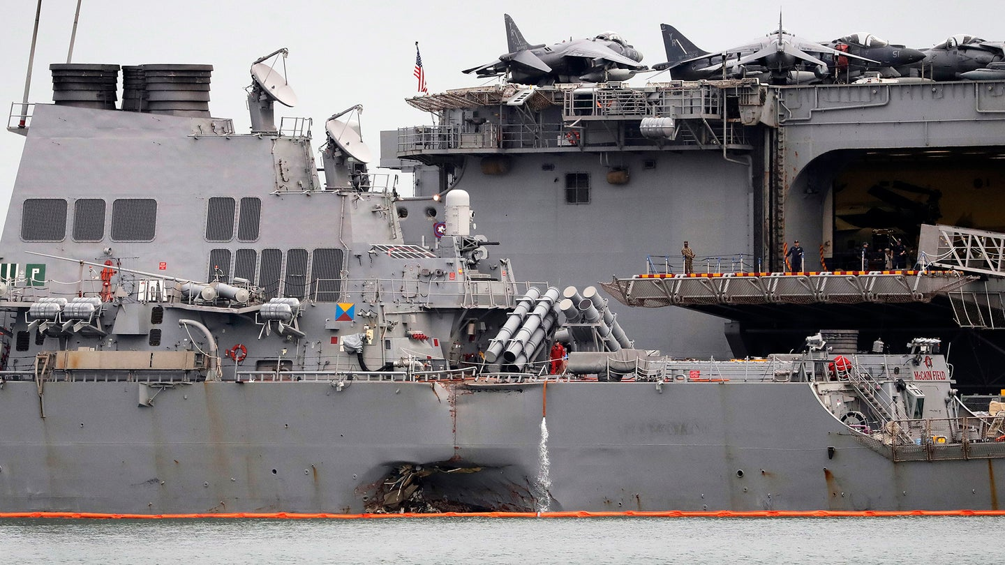 APTOPIX Singapore US Navy Ship Collision