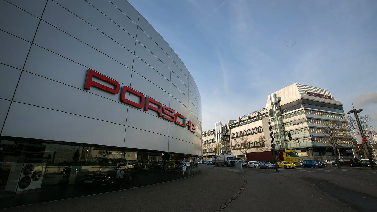Luxury Automobile Manufacture At Porsche AG's Factory