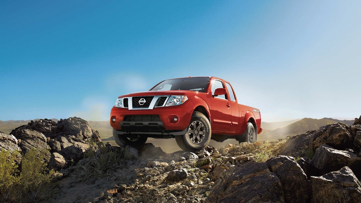 The 2017 Frontier is offered in both King Cab and Crew Cab body styles and in 4x2 and 4x4 driveline configurations, along with a choice of two powerplants: a 4.0-liter DOHC V6 engine rated at 261 horsepower and 281 lb-ft of torque or a 152-horsepower 2.5-liter inline 4-cylinder engine (King Cab only). Five trim grades are available: Frontier S (4-cylinder and V6), SV, PRO-4X (4x4 only), Desert Runner (4x2 V6 only) and SL (Crew Cab V6 only).