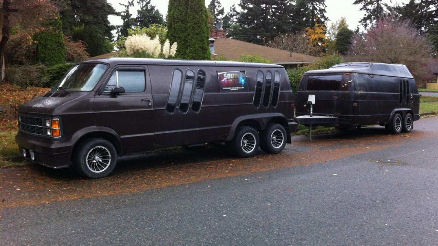 This Conversion Van and Matching Trailer Are Maximum 1970s