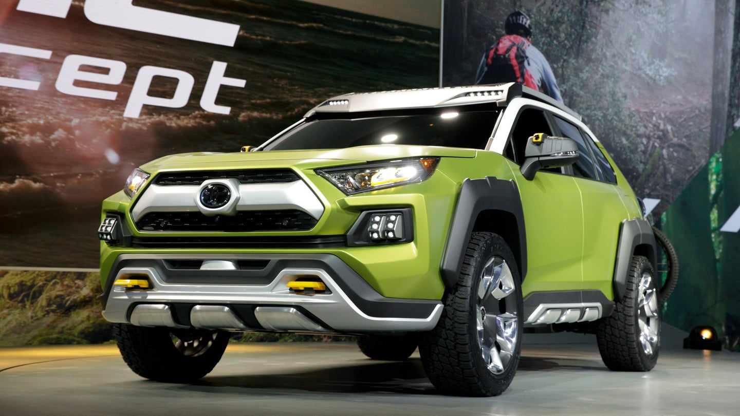 The Toyota Motor Corp. FT-AC concept sports utility vehicle (SUV) is unveiled during AutoMobility LA ahead of the Los Angeles Auto Show in Los Angeles, California, U.S., on Thursday, Nov. 30, 2017. Toyota Motor Corp. has loaded up a concept sport utility vehicle with features aimed at enticing more outdoorsy drivers with a model better known as the family grocery-getter. Photographer: Troy Harvey/Bloomberg