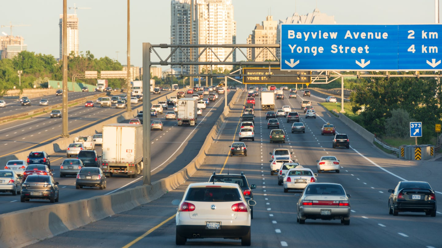 Traffic in the King's Highway 401 or MacdonaldCartier