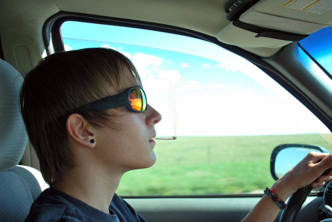 Teen Driving High