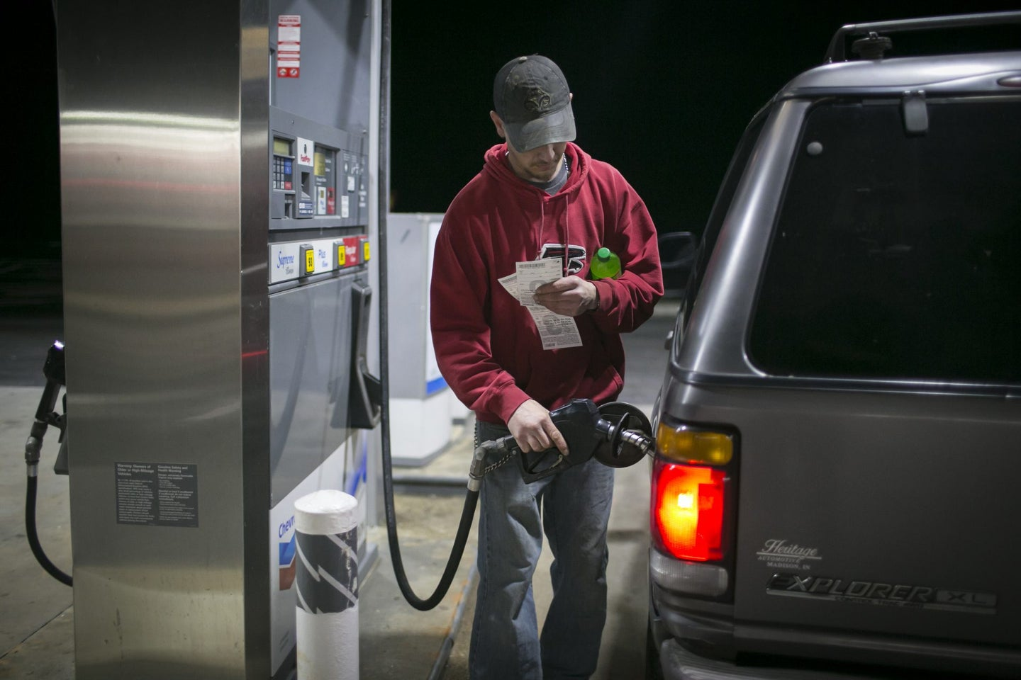 A Chevron Corp. Gas Station Ahead Of Earnings Figures