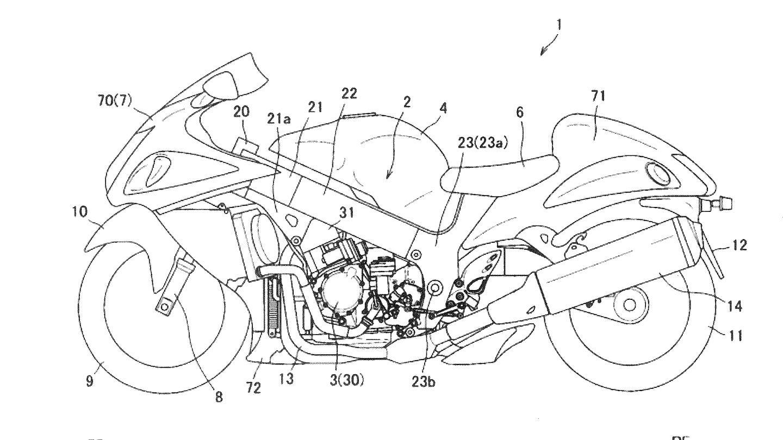 Suzuki Patents Suggest Semi-Automatic Hayabusa Transmission