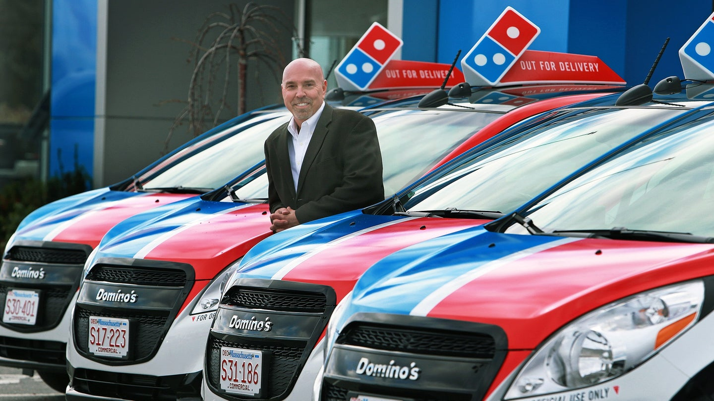 Specially Designed Domino's Pizza Delivery Vehicles