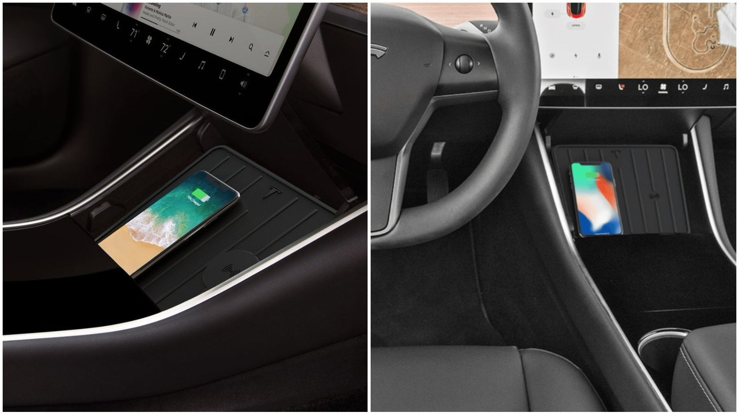 New Product Adds Wireless Phone Charging to Tesla Model 3 ...