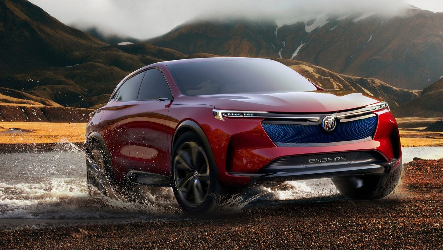 The 2018 Buick Enspire all-electric concept SUV