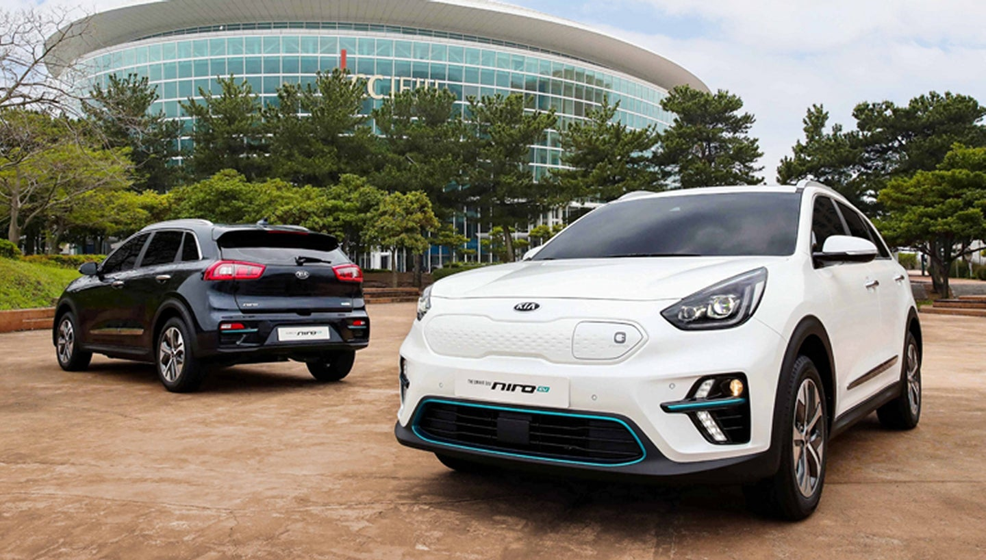 Kia Niro EV At International Electric Vehicle Expo