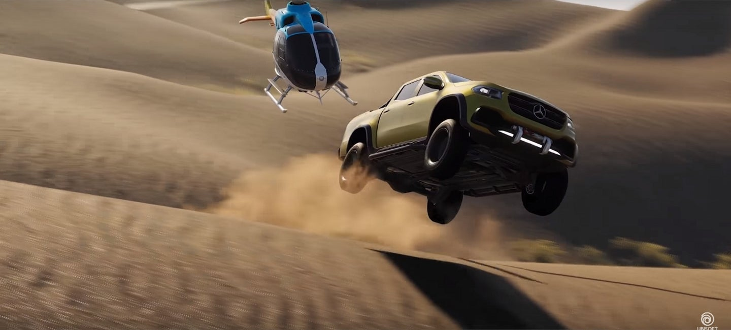 Mercedes-Benz X-Class Rips Through Different Terrain in the Latest The Crew 2 Trailer - In Flight