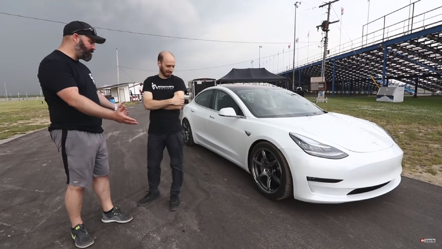 Watch the Tesla Model 3 On-Track With Performance Upgrades