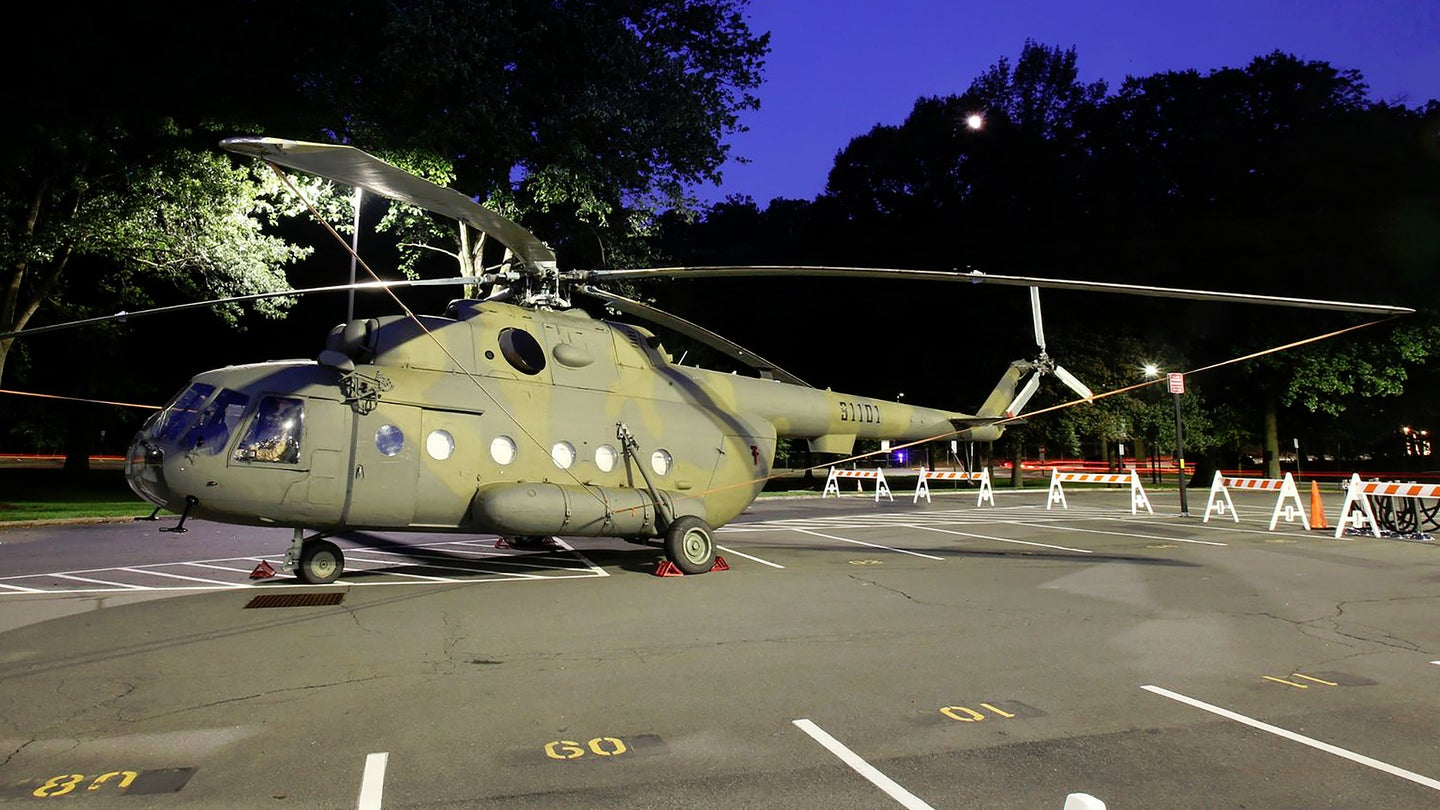 The Mi-17 Jawbreaker helicopter parked in the United States.