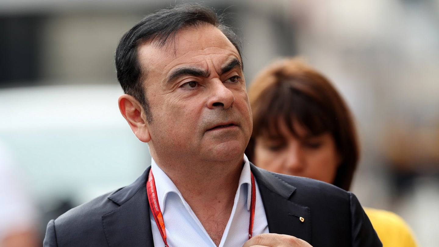 CEO of Renault and Nissan Carlos Ghosn in the Paddock