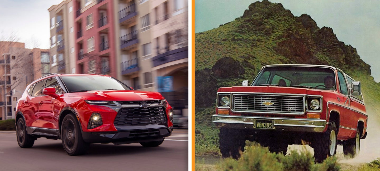 2019 Chevrolet Blazer RS and 1972 K5